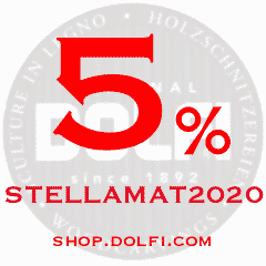 5% di sconto su https://shop.dolfi.com/